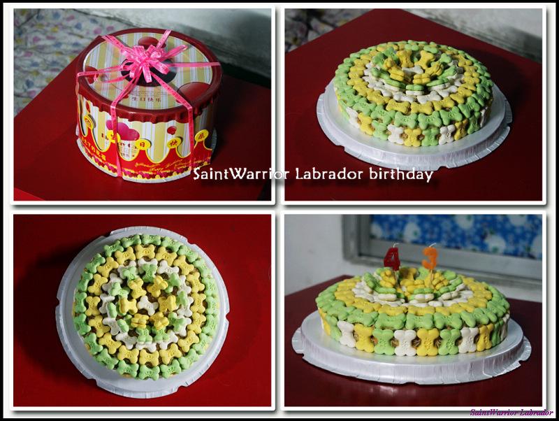 一年又一年.(蛋糕上是数字蜡烛,分别代表卡鲁4岁和应爱3岁.)-